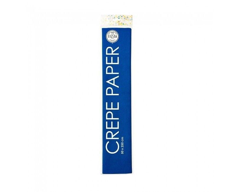 Crêpepapier royal blauw 50 x 250cm