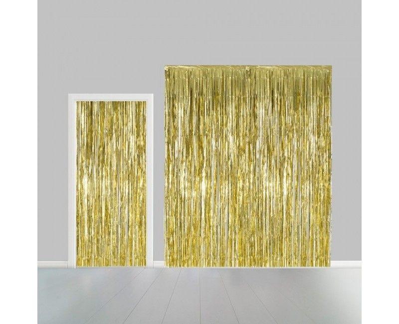 Deurgordijn goud metallic 100 x 240cm