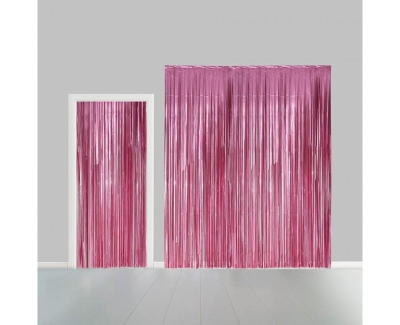 Deurgordijn lichtroze metallic 100 x 240cm