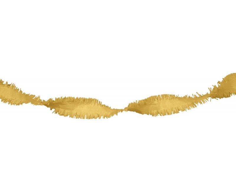 Draai guirlande goud guirlandes feestversiering for Feestversiering goud