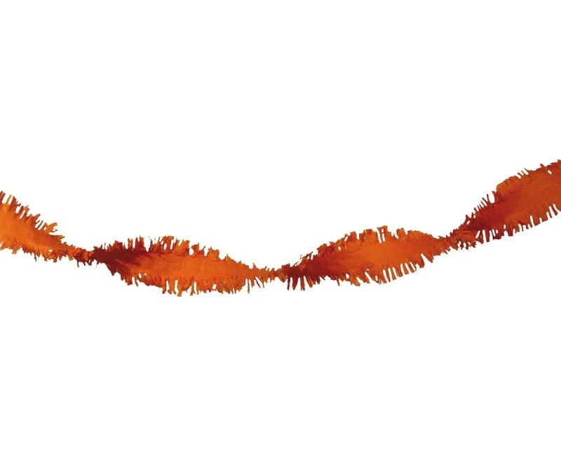 Draai guirlande oranje