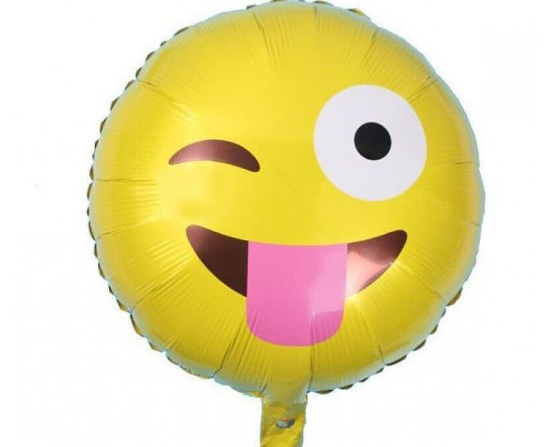 Folieballon 45cm emoticon Knipoog
