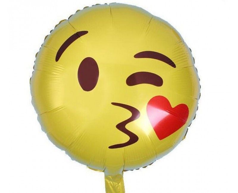 Folieballon 45cm emoticon Kus