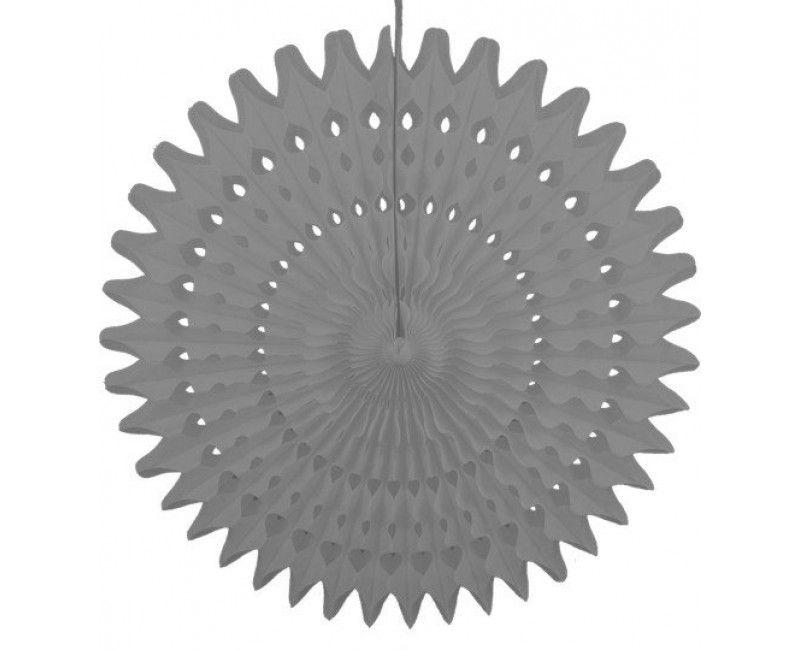 Honeycomb waaier grijs 53 cm