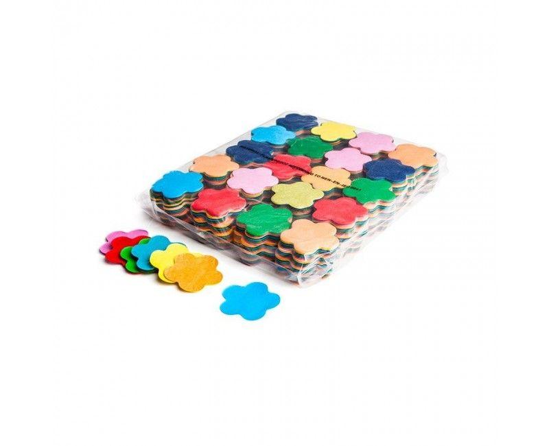 Slowfall paper confetti bloem 55mm multicolour brandvertragend, 1 kg
