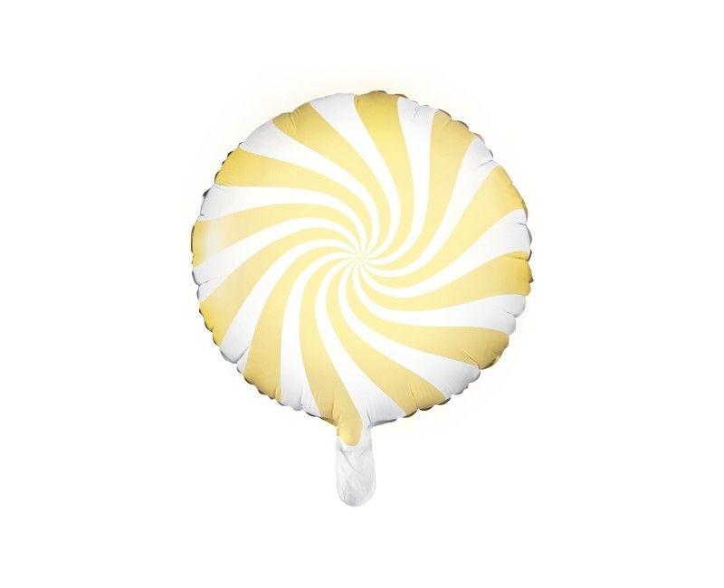 Folieballon 45cm Candy lichtgeel