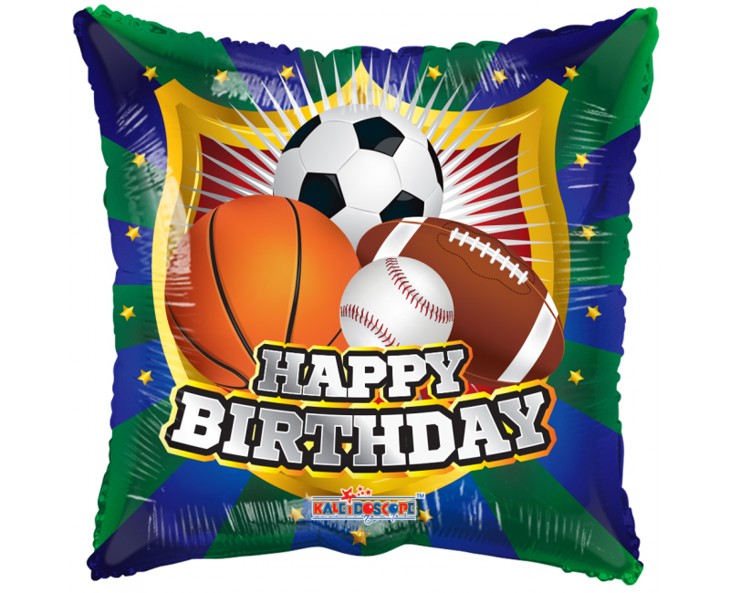 Folieballon 45cm Happy Birthday sportschild