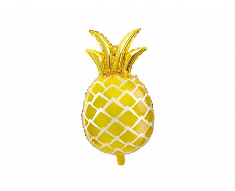 Folieballon 63cm ananas goud metallic