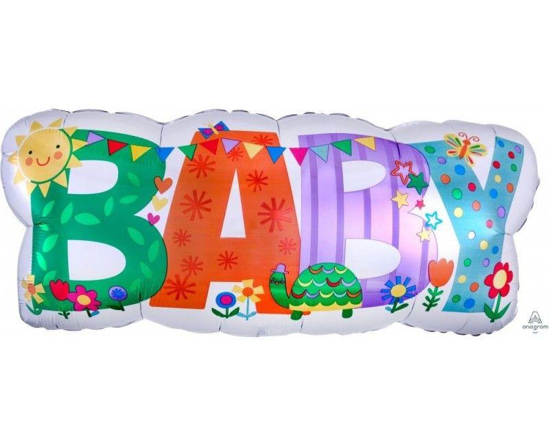 Folieballon 83cm BABY met slingers