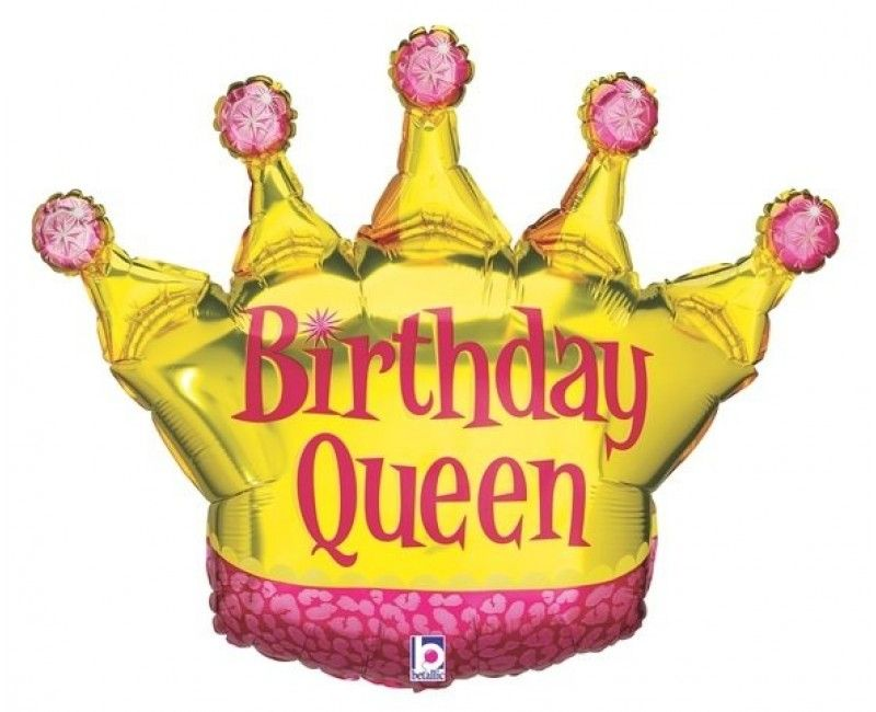Folieballon 90cm Birthday Queen