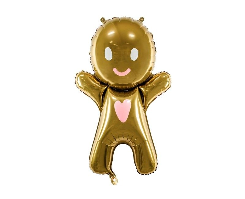 Folieballon gingerbread man 58 x 86cm