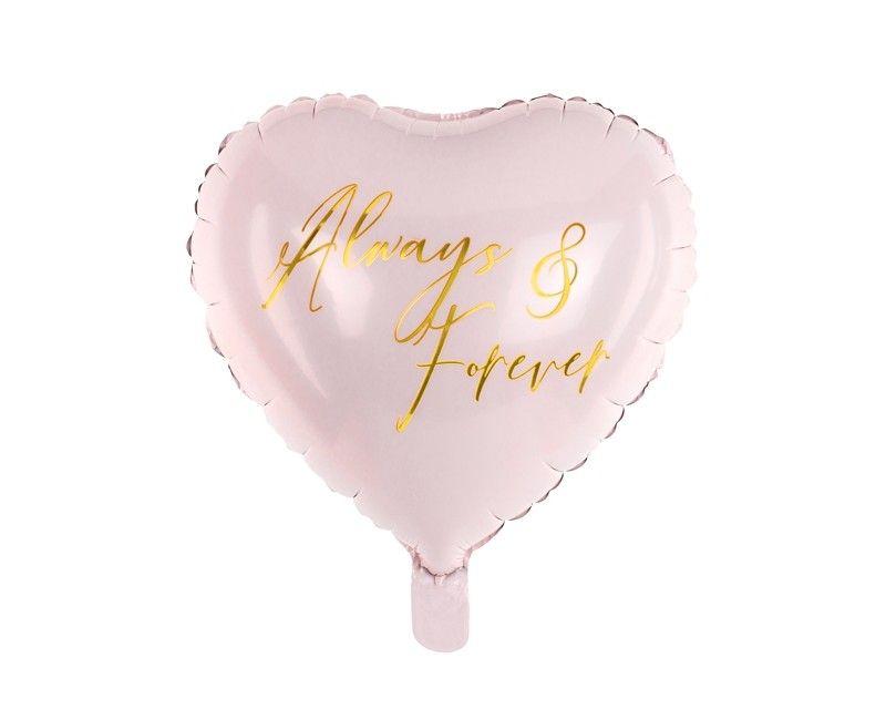 Folieballon hart 45cm Always & Forever