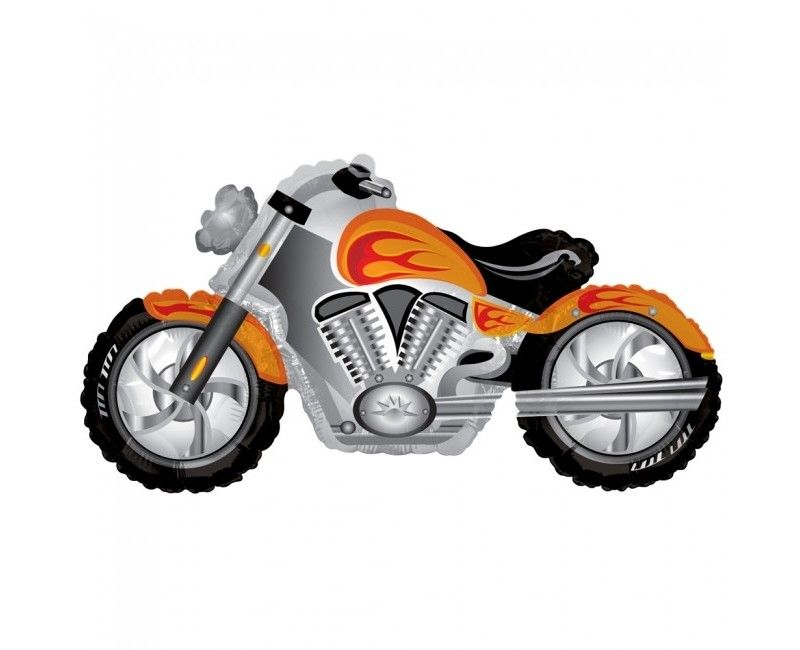 Folieballon 91cm motorfiets met vlammen