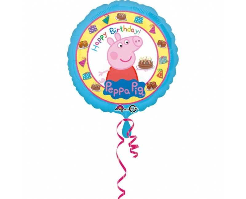Folieballon 45cm Peppa Pig Happy Birthday