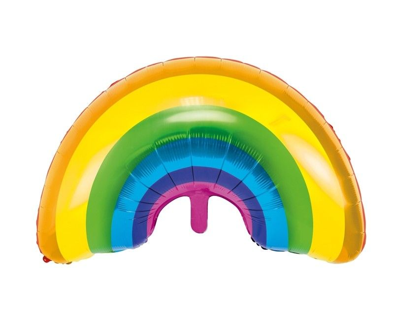 Folieballon regenboog, 73 x 45cm