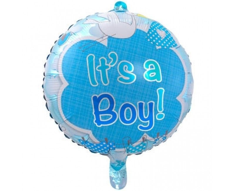 Folieballon 43cm It's a boy ooievaar