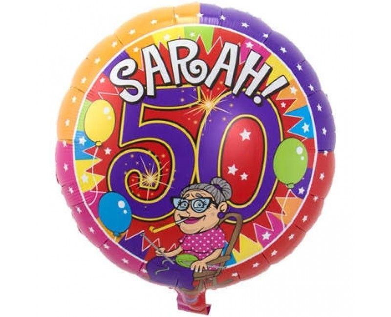 Folieballon 45cm Sarah knalfeest