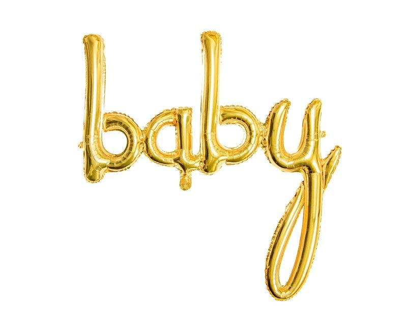 Folieballon baby goud, 73 x 75cm