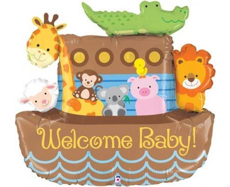 Folieballon 94cm Welcome Baby! ark van Noach