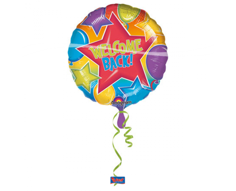 Folieballon 45cm Welcome back