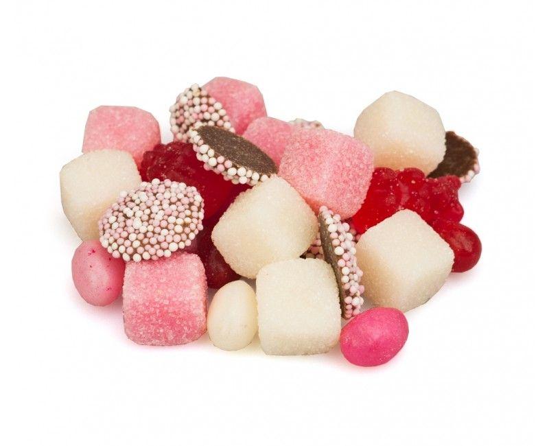 Geboorte tumtum mix roze en wit, silo 900 gram
