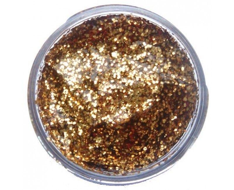Snazaroo glittergel goud, potje 12ml