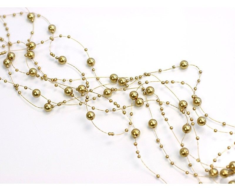 Beaded garland gold