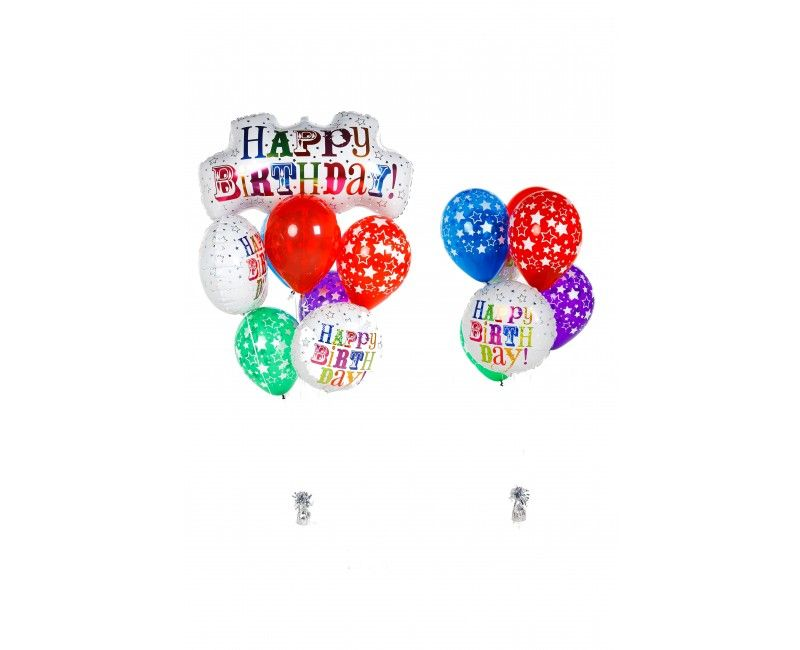 Ballonnen combi set Birthday greetings XL