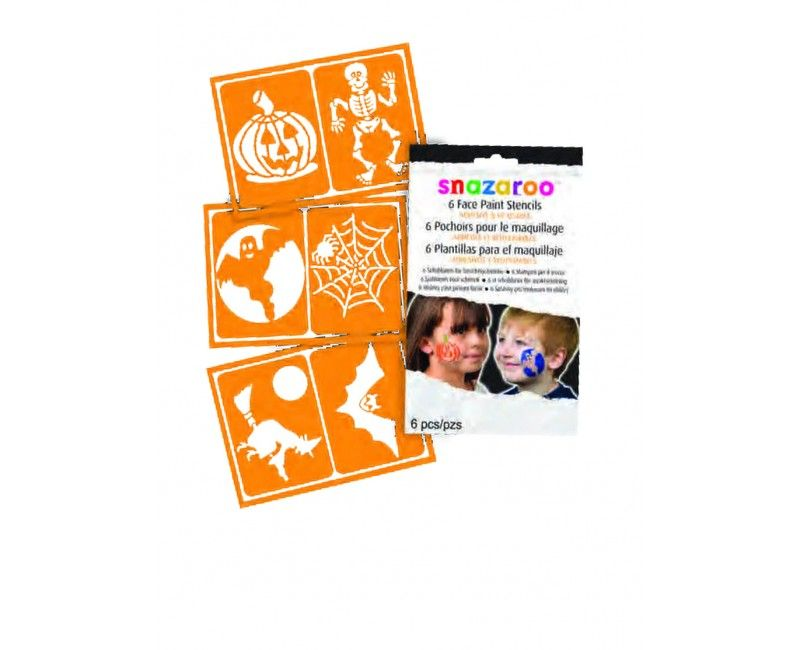 Snazaroo halloween schmink sjablonenset, 6 afbeeldingen