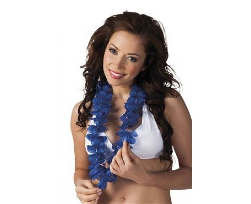 Hawaii slinger Ohana blauw, per stuk