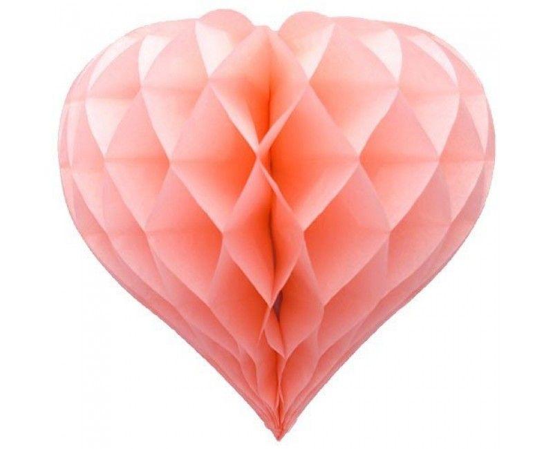 Honeycomb hartvorm lichtroze