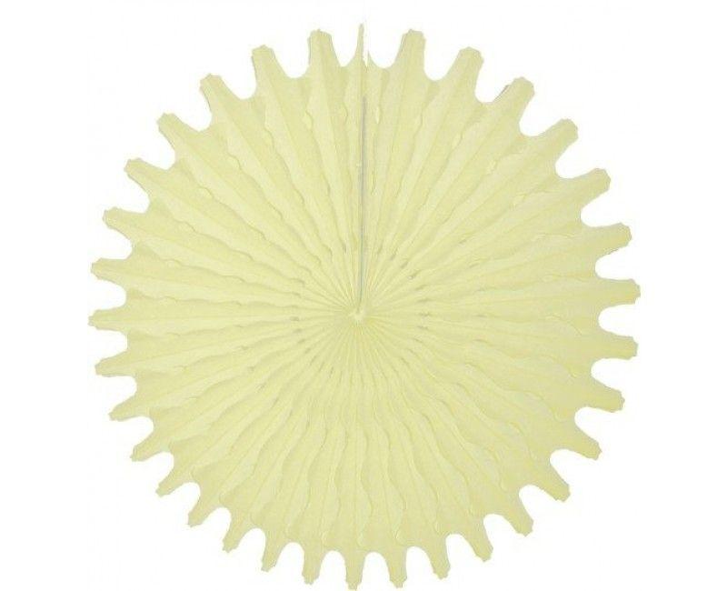 Honeycomb waaier ivoor wit 45 cm