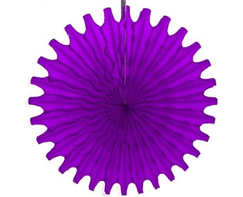 Honeycomb waaier paars 45 cm