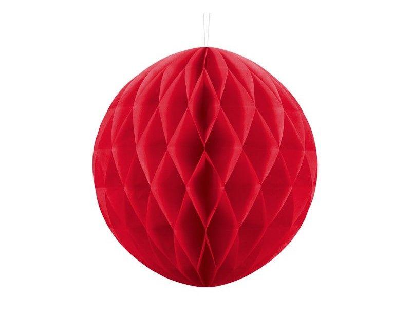 Honeycomb bol rood