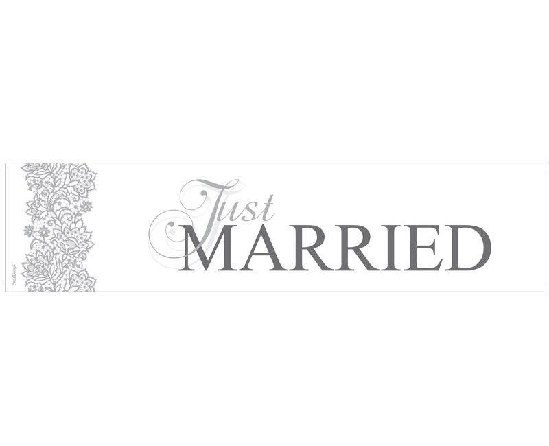 Kentekenplaat Just Married wit