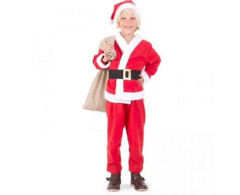 Luxe kerstman kostuum jongens maat S
