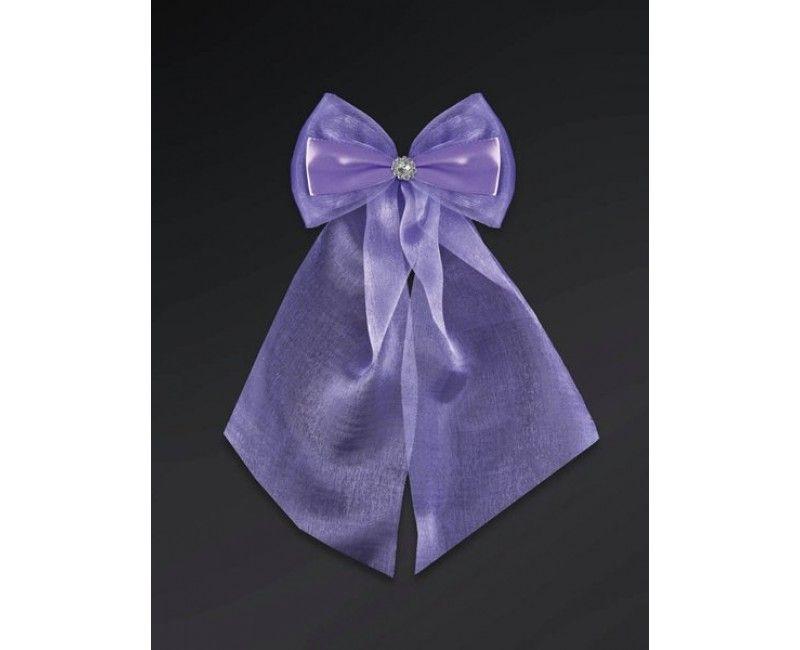 Violet strikken met organza en diamant, 2 stuks