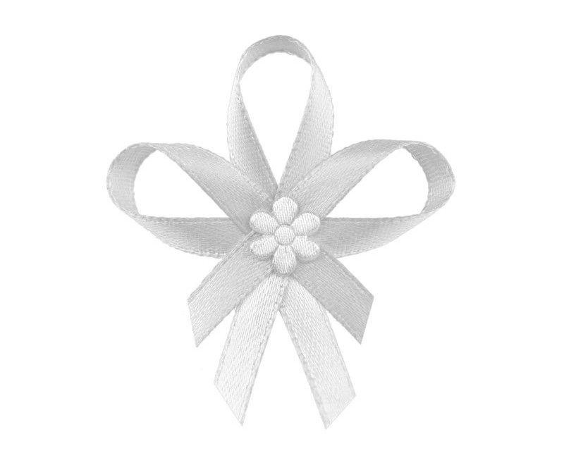 Witte lintjes met witte bloem