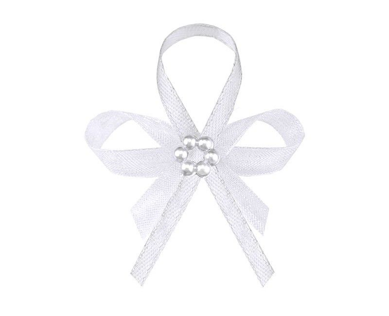 Witte lintjes met parels