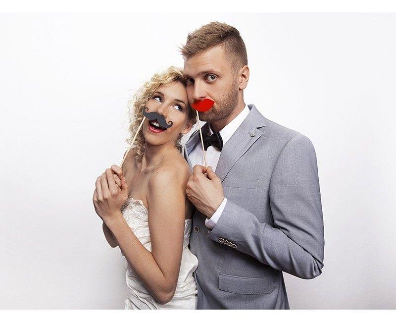Photo props Rode lippen op een stokje