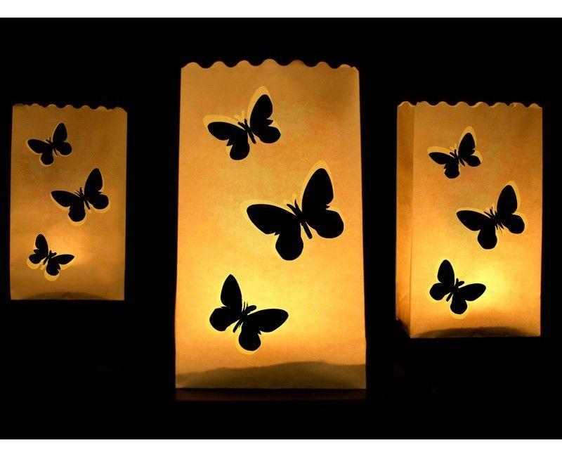Candlebag vlinders, 10 stuks