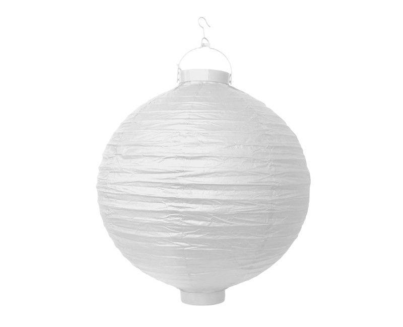 Lampion wit met verlichting