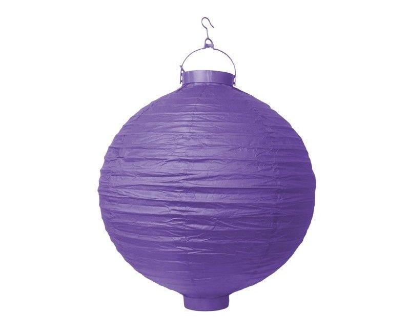 Lampion paars met verlichting