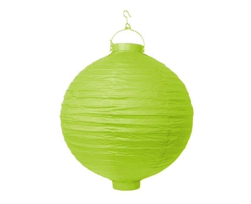 Lampion appel groen met verlichting