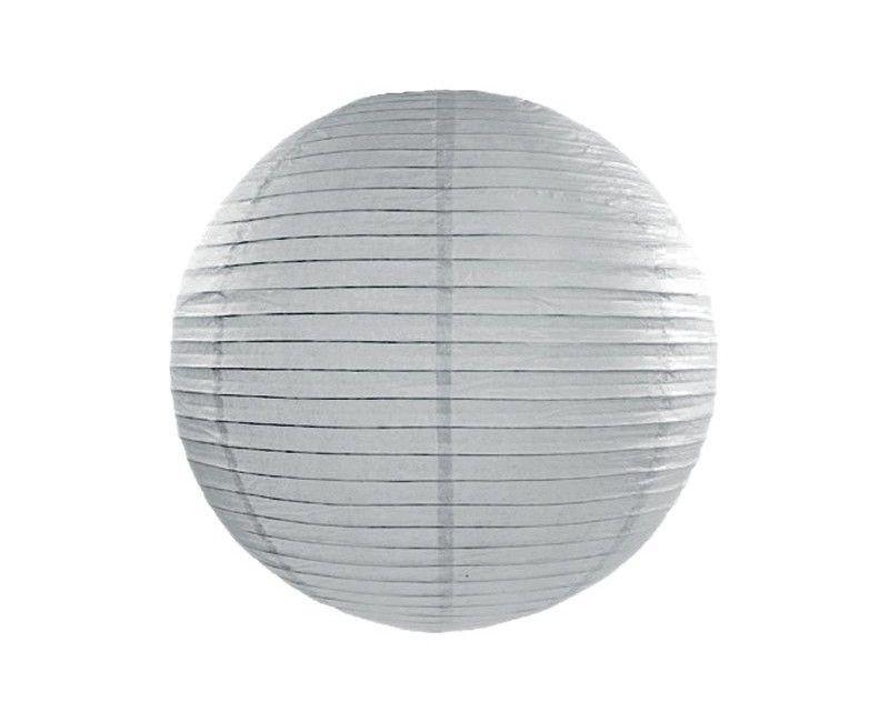 Papieren lampion grijs