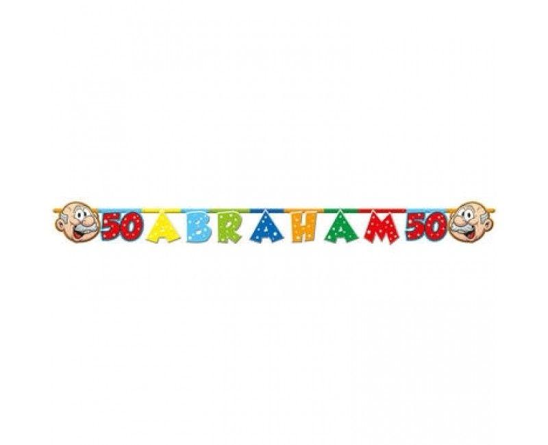 """Letterslinger """"Abraham 50"""" regenboog, lengte 1.5 mtr"""