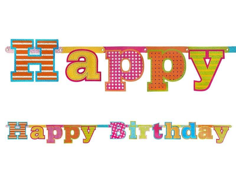 Letterslinger Happy Birthday holografisch
