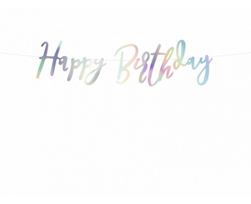 Letterslinger Happy Birthday iridescent, 16.5 x 62cm
