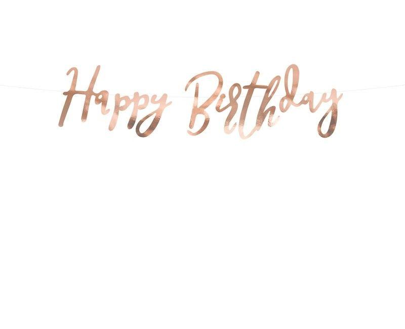 Letterslinger Happy Birthday rose gold 16.5 x 62cm