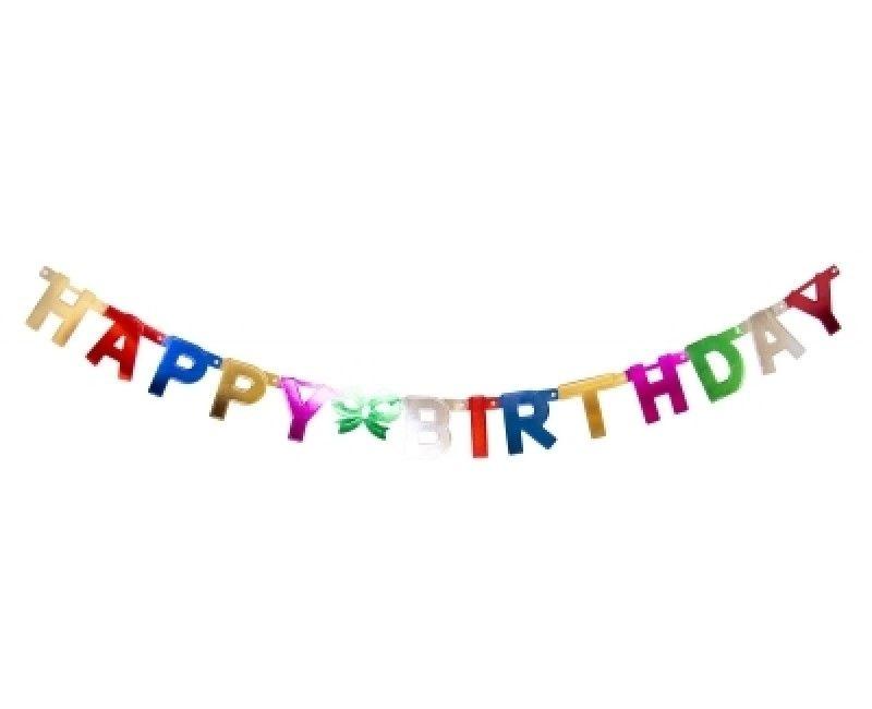 Letterslinger Happy Birthday metallic